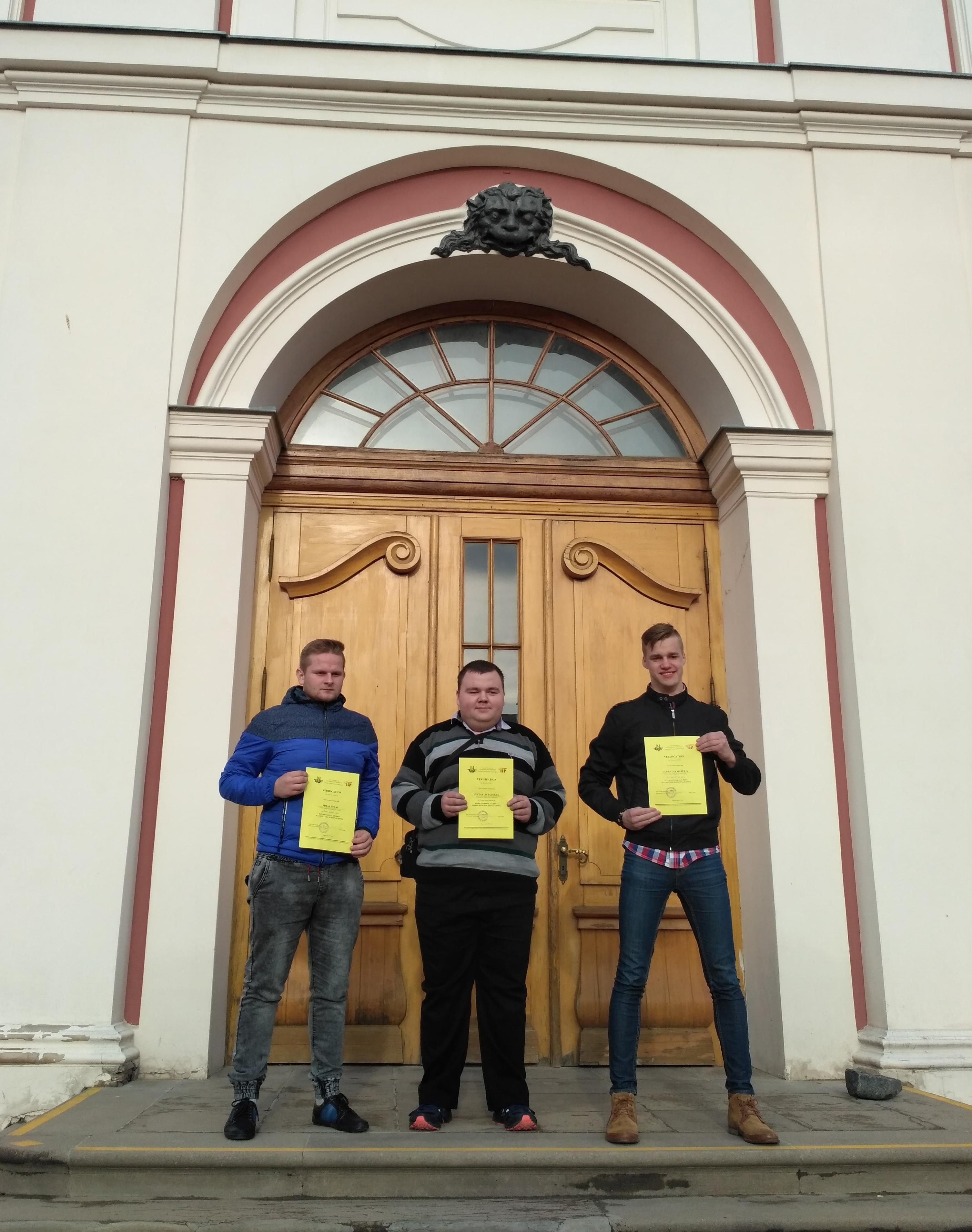 ASU studentai dalyvavo tarptautinėje studentų matematikos olimpiadoje Latvijoje